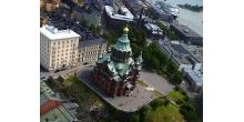 Успенский собор в Хельсинки. Вид сверху