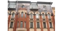 Мозаика на фасаде дома 28 по ул. Большая Зеленина