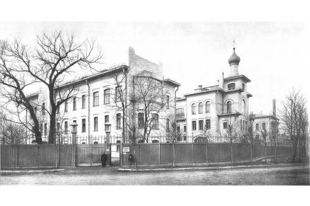 Здание Ортопедического института в Александровском парке. Историческое фото